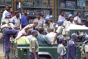 Zanu PF supporters? Zimbabwean Republic Police
